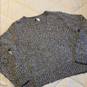 Black and gray crop top sweater